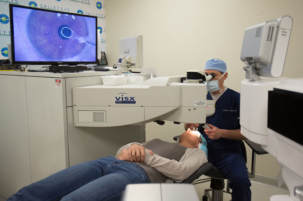Dr. Michael Vrabec performing a LASIK procedure