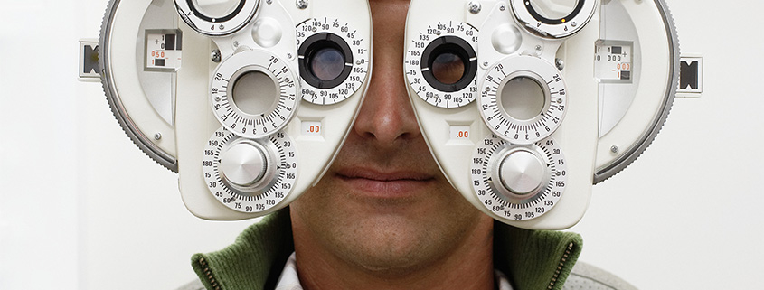 Man undergoing an eye exam